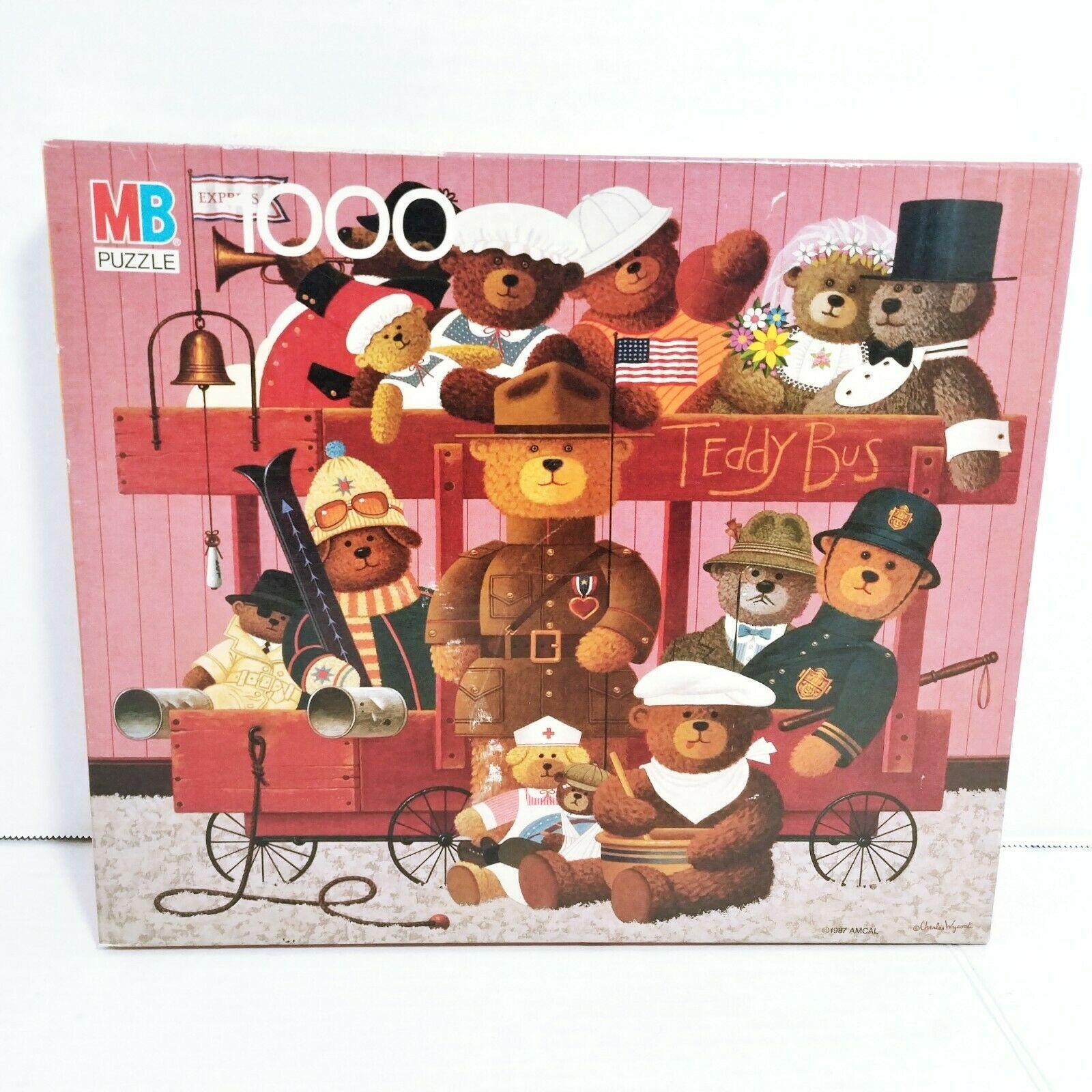 NEW SEALED 1987 VINTAGE CHARLES WYSOCKI PUZZLE Teddy Bears 1000 PIECE Jigsaw - $77.27