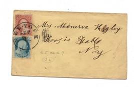 RARE Cover Pre Civil war C.1857 Scotts #22 & #25 Hoosick Falls NY Great ... - $100.00