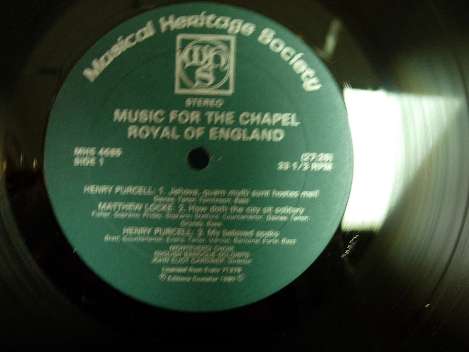 Music for the Chapel Royal of England - John Eliot Gardiner - MHS 4685Z