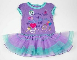 LAZOO GIRLS SIZE 24M 2T MERMAID DRESS UNDER SEA TREASURE CRAB PURPLE BLU... - $9.89