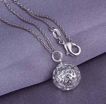 2016 Hot Hollow Bowl Fashion Set 925 Stamped Silvered Jewelery Products Necklace - $14.14