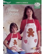 Yummy Aprons Gingerbread Men Hearts TNS Plastic Canvas Pattern Leaflet - $1.77
