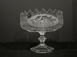 Crystal d'Adriana Flora Footed Compote  - $40.00