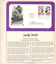 Silent Screen, Keystone Cops, Theda Bara, Postal Commemorative Society - $4.00