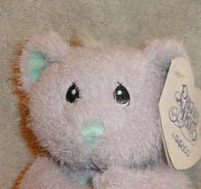 "Enesco Precious Moments Sharing Bear Plush New  Purple 6"" Stuffed Animal Toy image 2"