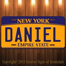 Daniel New York Yellow Name License Plate Aluminum Vanity Tag - $16.82