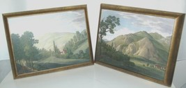 Astral Direct 5842 Tranquil Valley 1 and 2 Painting Set Melling Bronze Frame image 1