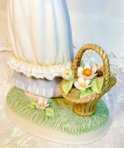 Vintage Napcoware Country Cousins Friendship Song Figurine Girl w/ Flower Basket image 3