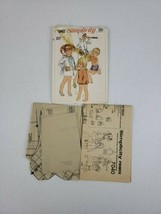 Simplicity 7040 Sewing Pattern Kids Toddler Playsuit Shorts Robe Swim Vt... - $5.27