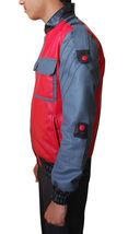 BTTF Jacket Marty McFly Back To The Future 2015 Bomber Costume Leather Jacket image 5