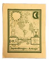 Jayme Borges De Araujo Rio De Janiero 1950 Ex Libris Exlibris Bookplate - $29.69