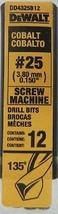 Dewalt DD4325B12 #25 Cobalt Screw Machine Drill Bits 12PK - $17.82