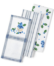 New Martha Stewart Collection 3-Pc. Blueberry Towel Set - $19.55