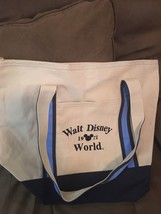Walt Disney World Tote Shoulder Bag White 1971 - $32.73