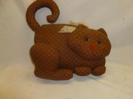 Vtg Retro Country Shabby Chic Decor Handmade Cat Stuffed Animal Doorstop - $22.99