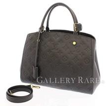 LOUIS VUITTON Montaigne MM Empreinte Noir 2Way Handbag M41048  Authentic 5487929 - $2,274.51