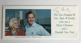 GEORGE H.W. BUSH SIGNED CHRISTMAS CARD JSA COA AUTOGRAPH PRESIDENT HW W. - $1,499.00