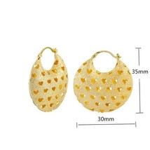 Senegal Jewelry  Love Hollow Bag Shape Earrings Temperament Wedding Anniversary  - $15.03