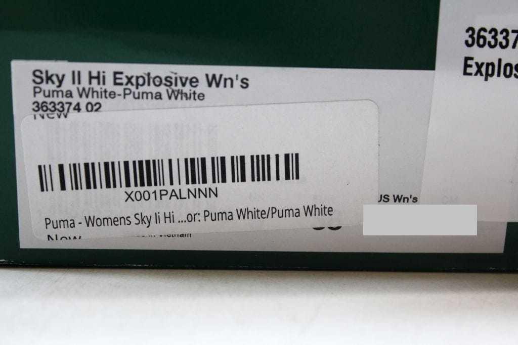 Puma Sky II Hi Explosive Puma White/Puma White 363374 02 Women's SZ 7.5