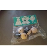 5 Wooden Doll Heads Made in Japan (in original package) - $5.00