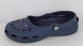 Crocs women's clog sandals rubber blue size women's 7 - $13.01