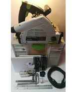 Festool TS 55 REQ-Plus USA 120V Plunge Circular Saw in Case with Accesso... - $470.25