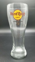 Hard Rock Cafe Amsterdam Tall Beer Glass Souvenir Travel .5L Rare Hard t... - $24.63