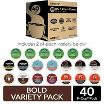 Keurig Bold Roast Coffee Collection Variety Pack Single Serve Kcup Pods 40CT - $34.31