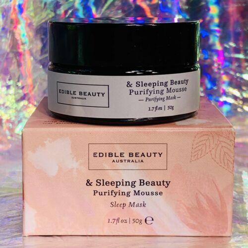New In Box edible beauty Sleeping Beauty Purifying Mousse Sleep Mask Full Sz