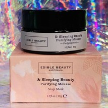 New In Box edible beauty Sleeping Beauty Purifying Mousse Sleep Mask Full Sz