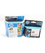 Genuine HP 49 Tri Color Ink Cartridge 2 Pack Deskjet Officejet New Expired - $14.84