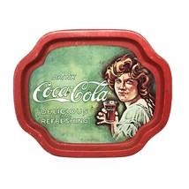 Drink Coca Cola Delicious And Refreshing Serving Tray Small Tin Tray Vin... - $12.18