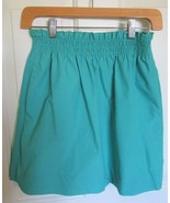 J.Crew Factory Bell Skirt in Cotton Turquoise Smocked Waist City Mini po... - $9.47