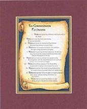 Touching and Heartfelt Poem for Inspirations - Ten Commandments for Pare... - $15.79