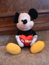 "14"" Mickey Mouse Disney Valentine's Day Plush Heart with Be Mine  nb - $14.99"