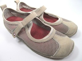 Merrell Taupe Womens Mesh Shoes Size 7.5 M Grey Suede Mary Jane Shoes - $26.73