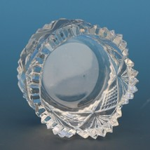 Antique Cut Glass Open Salt Diamond Star Fan image 2