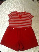 Ladies-Lot of 2-Size XL-Tommy Jean top-Size 10-Hilfiger shorts set/outfit - $17.75
