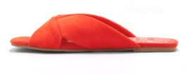 Damen dv Rot Addie Microsuede Verknotet Slide Sandalen image 2