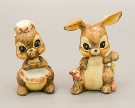 Set of 2 Vtg Josef Originals Bunny Rabbit Figurines Easter Anthropomorphic - $13.95