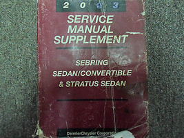 2003 Chrysler Sebring Service Shop Repair Manual Supplement Oem Factory Book 03 - $9.58