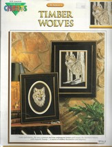 Cross Stitch Pattern-TIMBER WOLVES By Al Agnew-Endangered Species Series - $5.86