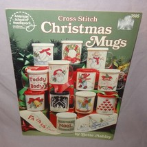 Christmas Mugs Cross Stitch Leaflet 3585 Santa Snowmen Bells Patterns An... - $10.99