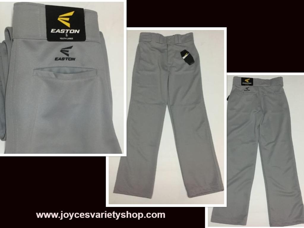 Easton boys gray baseball pants web collage
