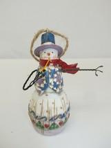 """Jim Shore Enesco B113110 Snowman w/ Pipe Christmas Ornament, 2003 - 4"""" Tall - $11.99"""