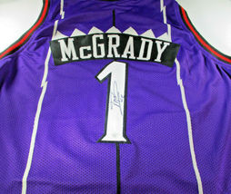 TRACY MCGRADY / NBA HALL OF FAME / AUTOGRAPHED TORONTO RAPTORS CUSTOM JERSEY COA image 1