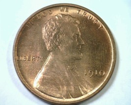 1910 Lincoln Cent Penny Choice Uncirculated / Gem Red Ch. Unc / Gem Rd Original - $110.00