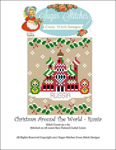 Russia: Christmas Around the World series cross stitch chart Sugar Stitches