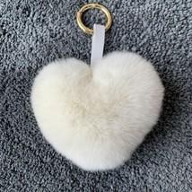 Neues Lovely Herz Damen Rex Kaninchenfell Ketten Mädchen Tasche Hängen A... - $9.78