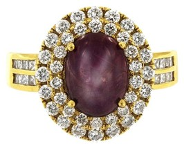 Yellow Gold Ring with Ruby with Diamonds - $1,600.00